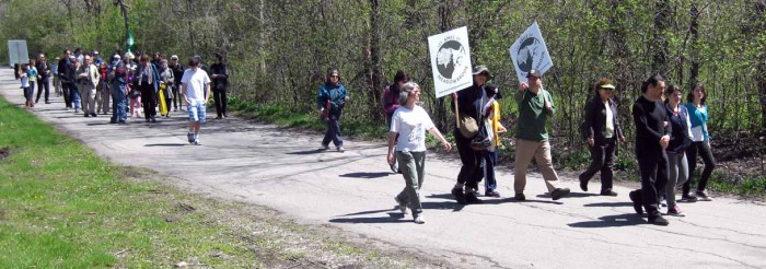 Participants on Jane's Walk