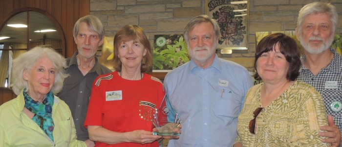 The Green Coalition presented an award to Les Amis du Parc Meadowbrook.